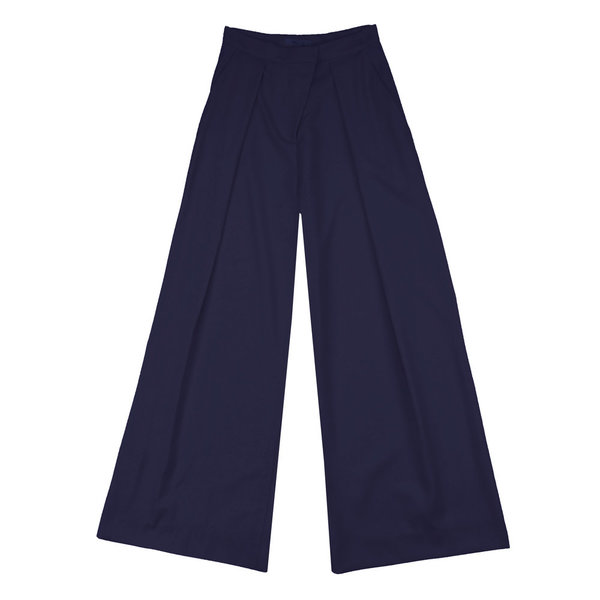 Vincetta Navy Palazzo Trouser