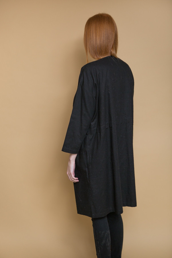 Revisited Matters Raincoat Dress / Black