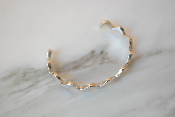 Annie Costello Brown Wavy Line Cuff