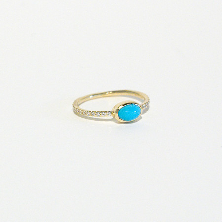Mociun Turquoise and Diamond Ring
