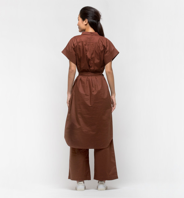 Kowtow Journey Dress Brick