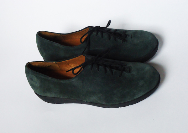 HOPP Forest Green Suede Essential Oxford