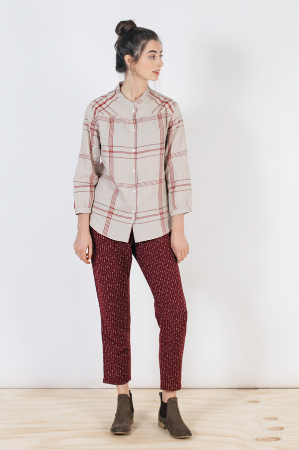 Bridge & Burn Hemlock Natural Red Plaid