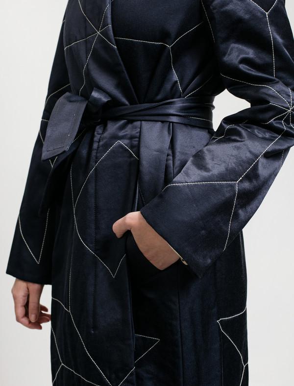 Trademark Star Quilt Coat Navy
