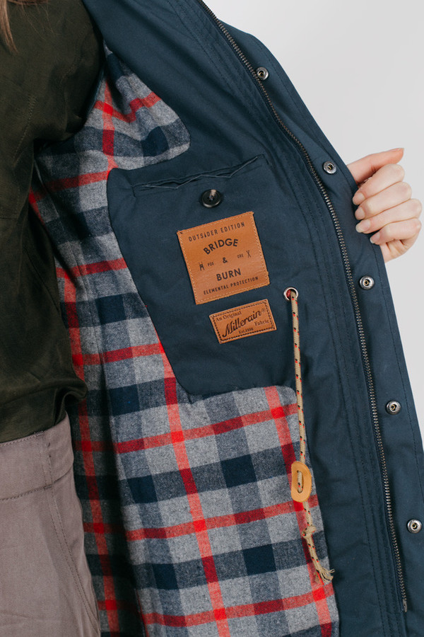 Bridge & Burn Cedar Waxed Cotton Navy