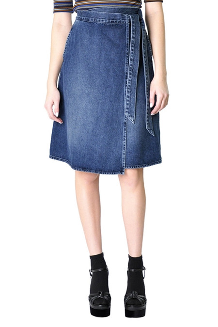 Fidelity Denim Pixie Skirt - Picadilly