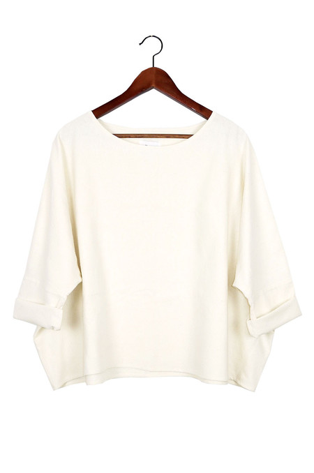 Jamie + The Jones T Top, Natural Raw Silk