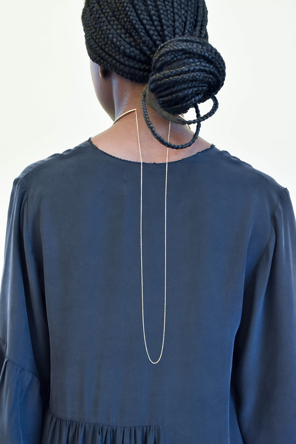 Gabriela Artigas Co-Orbit Choker with Draping Chain in Yellow Gold