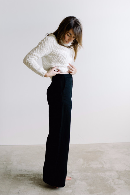 Esby Apparel Alex Wide Leg Pant - Black