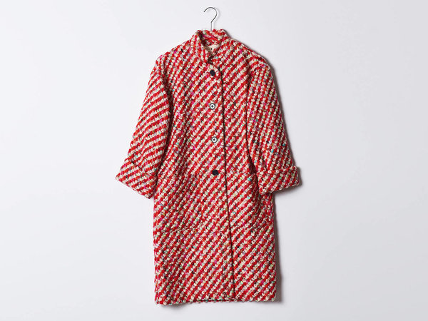 Trademark Oversized Tweed Coat