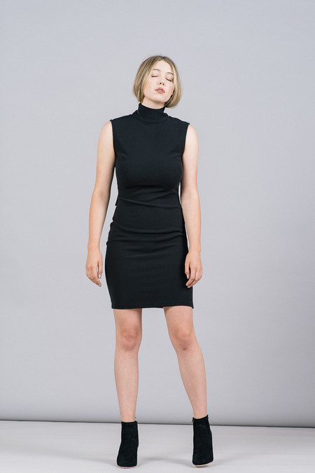 Storm & Marie Samuel Sleeveless Mock-Neck Dress