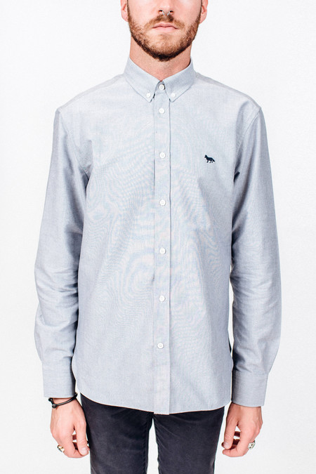 Men's Maison Kitsune Oxford Embroidery Classic Shirt