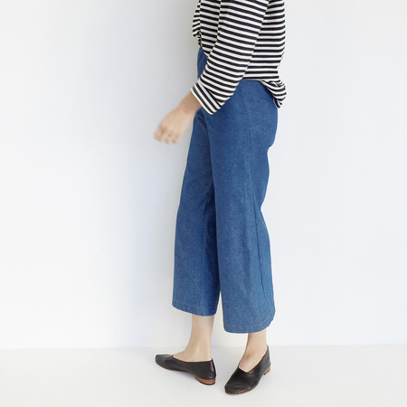 Laurs Kemp Denim Wide Leg Crop Pant