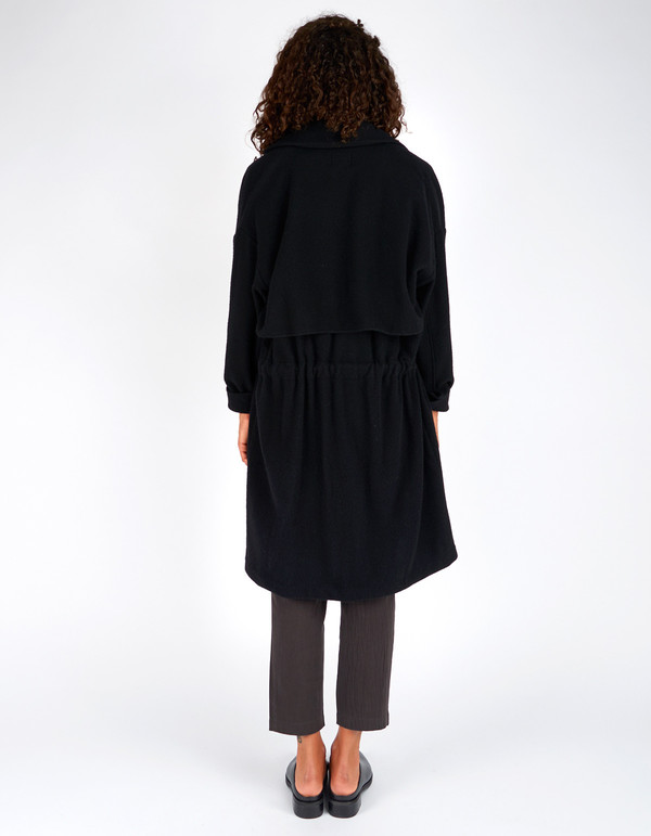 First Rite Tunnel Trench Wool Black