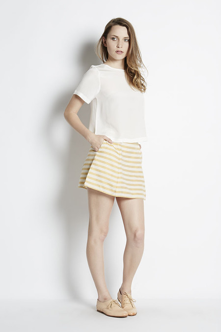 N/TICE Striped Canvas A-line Mini