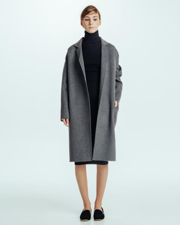 Achro Handmade Long Coat in Grey