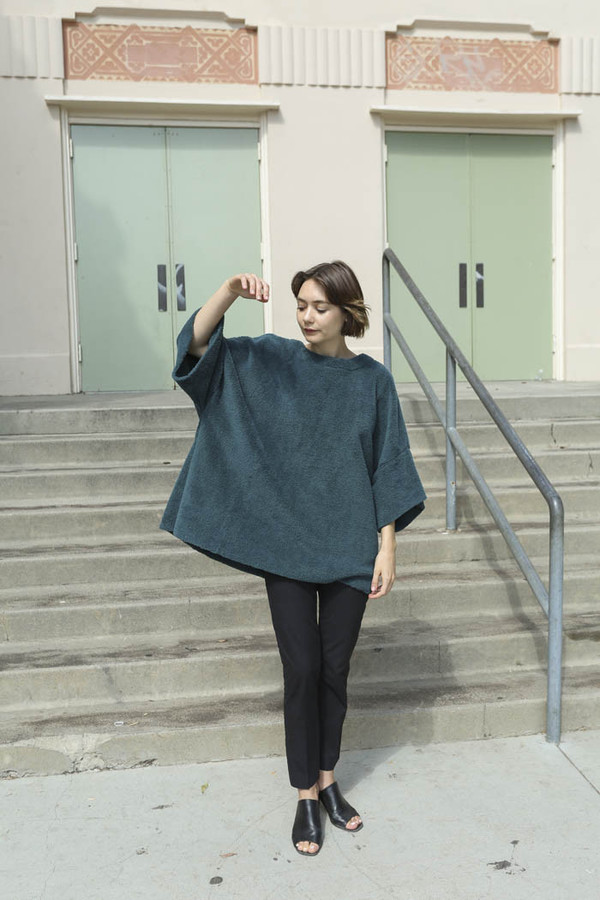 Carleen Big Fuzzy Shirt in Pine