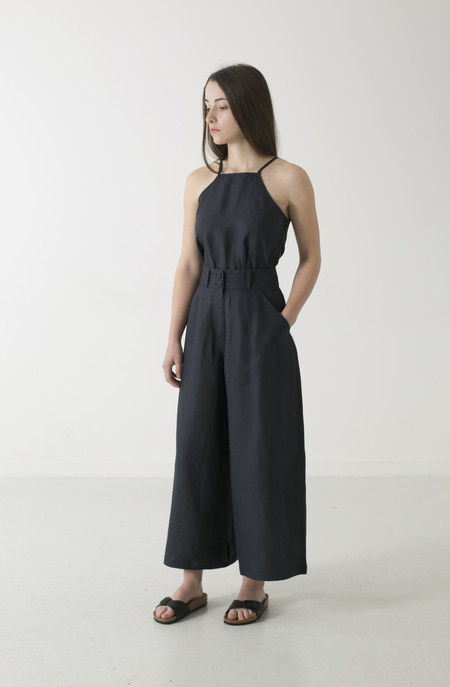 GOOD STUDIOS WOMENS HEMP LINEN WIDE LEG PANT