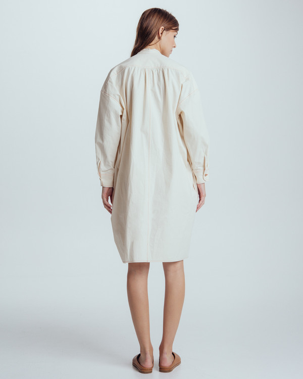 Caron Callahan Maria Shirt Dress in natural