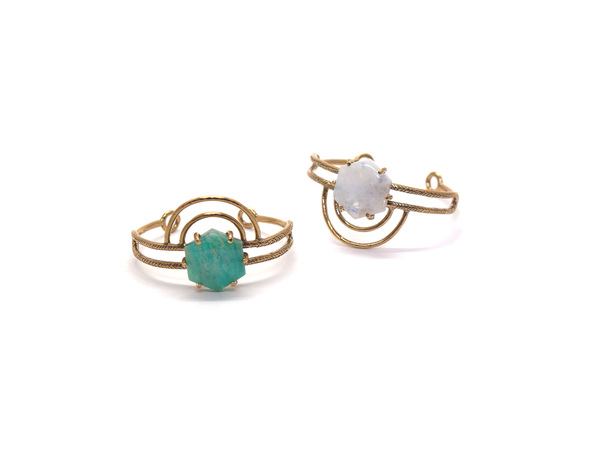 Laurel Hill Jewelry Dreamweaver Cuff // Amazonite