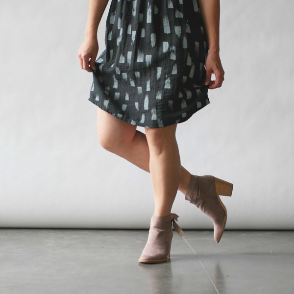 Make It Good Drift V-Neck Dress in Kale