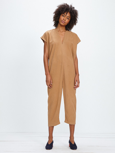 Miranda Bennett EVERYDAY JUMPSUIT / CAMEL SILK NOIL