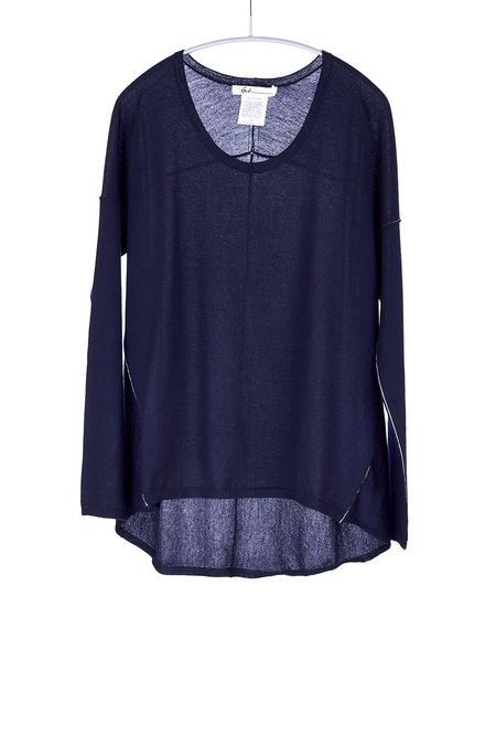 Paychi Guh Cashmere L/S Boxy Tee Navy
