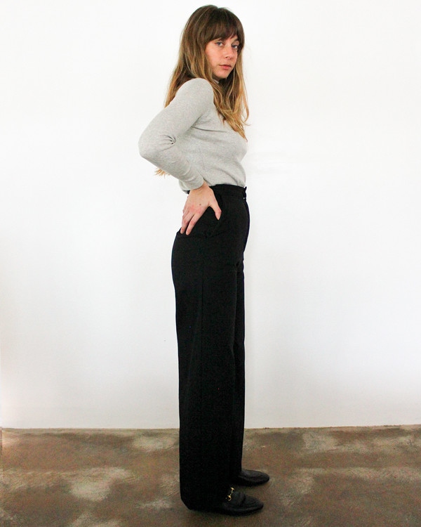 esby ALEX WIDE LEG PANT - BLACK