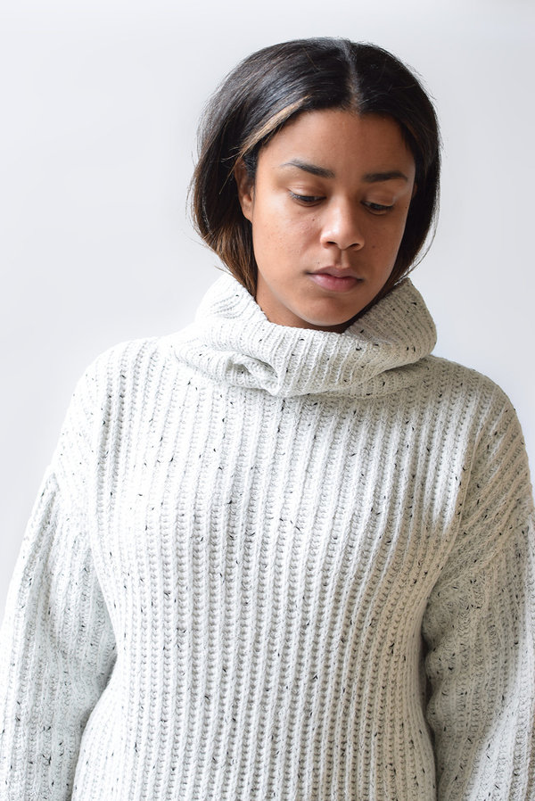 Lush Speckled Turtleneck Sweater
