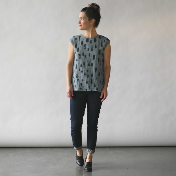 Make It Good Drift Blouse in Glacier