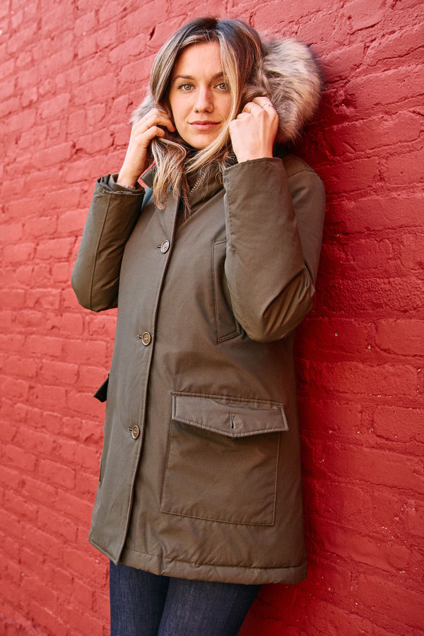 Woolrich Women's Arctic Parka Olive Green