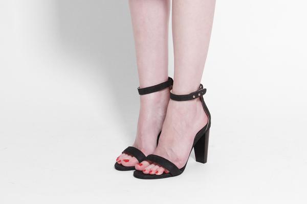 Unknown Sydney Brown Open Heel - Charcoal