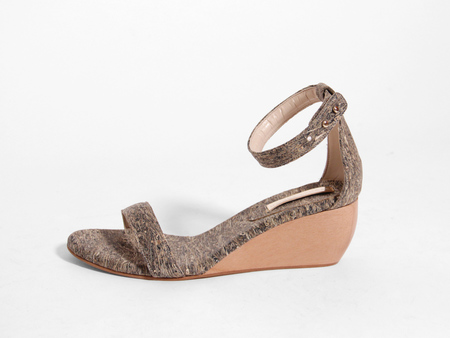 Sydney Brown Wedge Sandal - Tawny/Natural