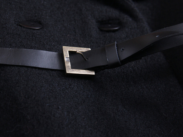 Berenik Wool Trench Coat - Black