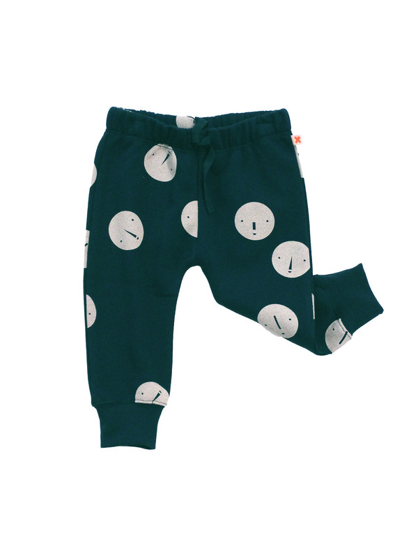 Kid's Tiny Cottons FACES FLEECE SWEATPANTS - NAVY
