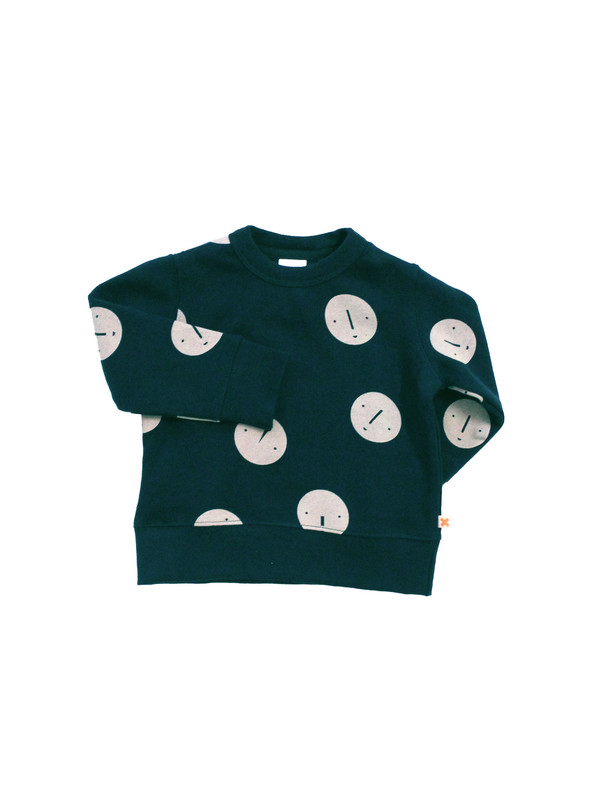 Kid's Tiny Cottons FACES FLEECE SWEATSHIRT - NAVY