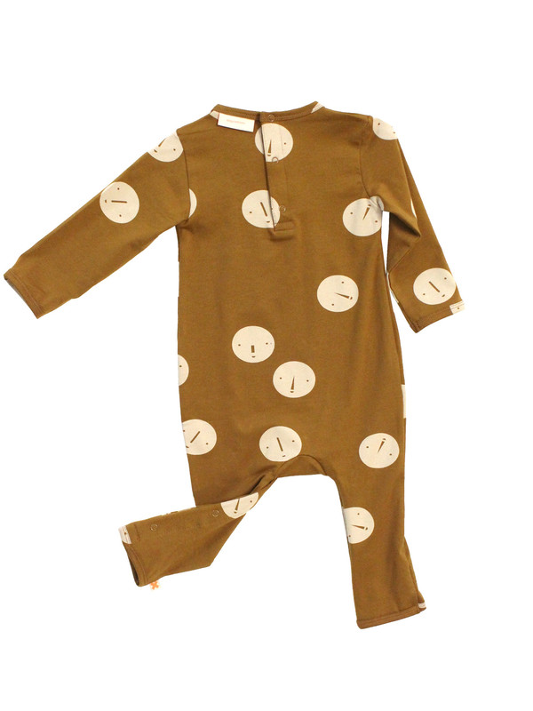 Kid's Tiny Cottons FACES ONE PIECE - BROWN