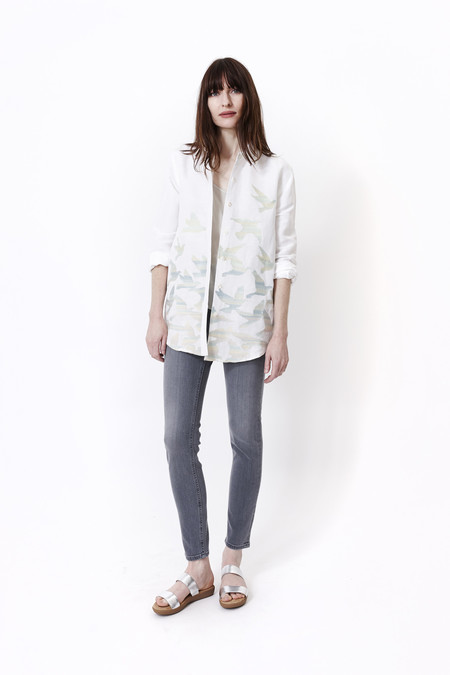 Mara Hoffman Birds Linen Button Down
