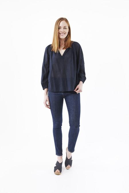 Earnest Sewn Blake High-Waist Skinny Jeans in Raw Blue