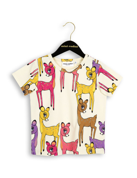 Kid's Mini Rodini ROE DEER T-SHIRT - PINK