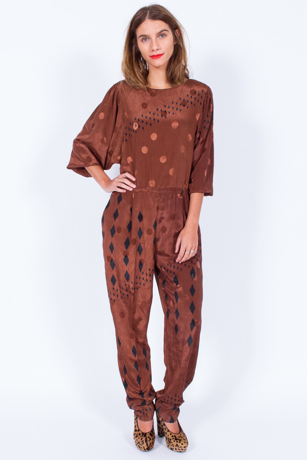 SPOTTED JUMPSUIT (MEDIUM-LARGE)