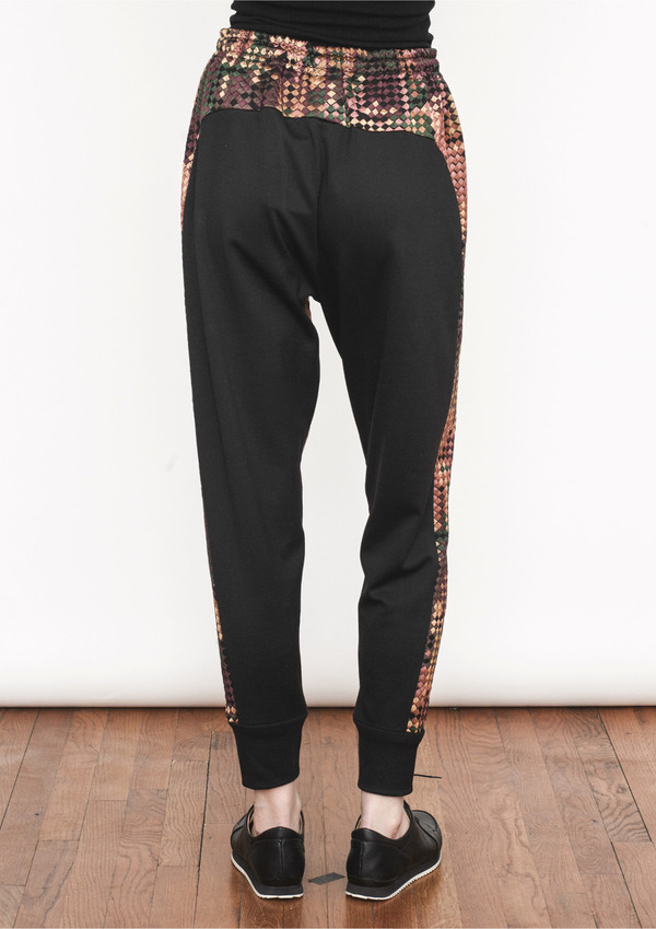 Berenik PIXELLATED EMBROIDERY JOGGER PANTS