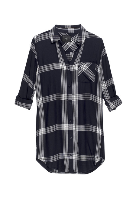 Rails Bianca Button Down Shirt Dress in Indigo & White