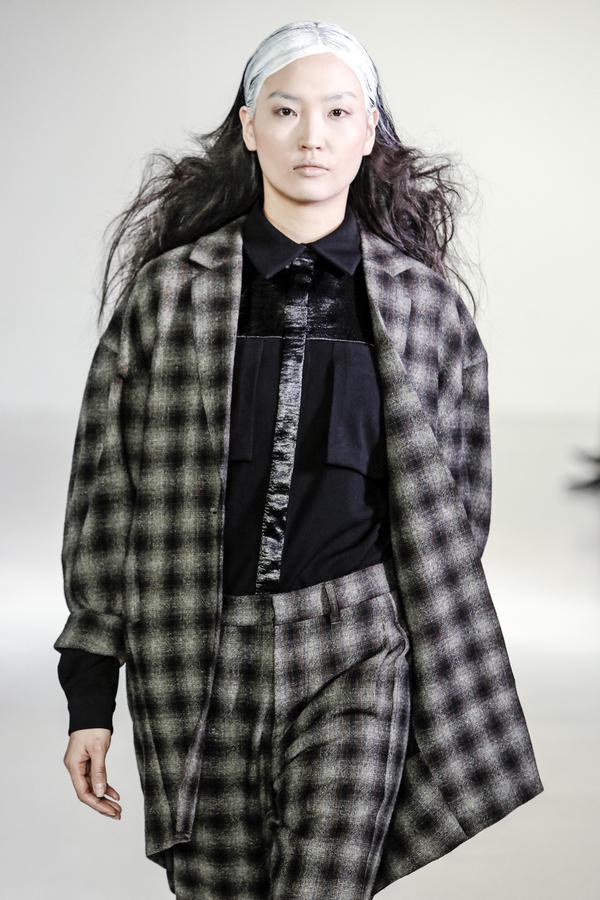 Berenik Jacket Reverse Wool Tweed- Black/Brown/Gray