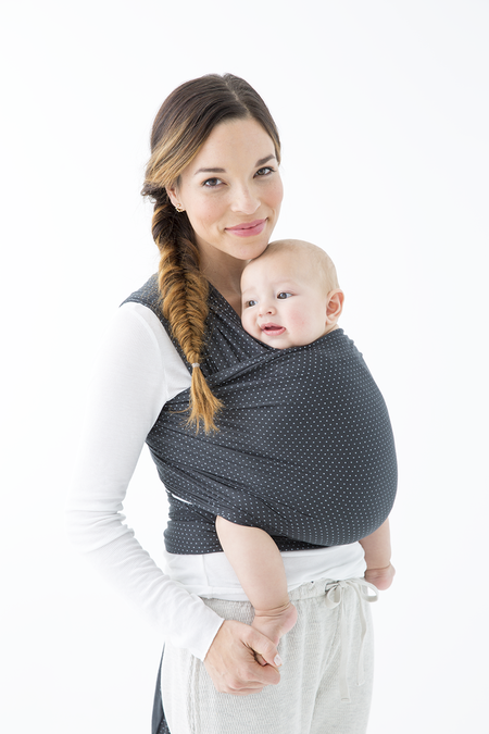 Solly Baby Wrap - Swiss Dots Charcoal