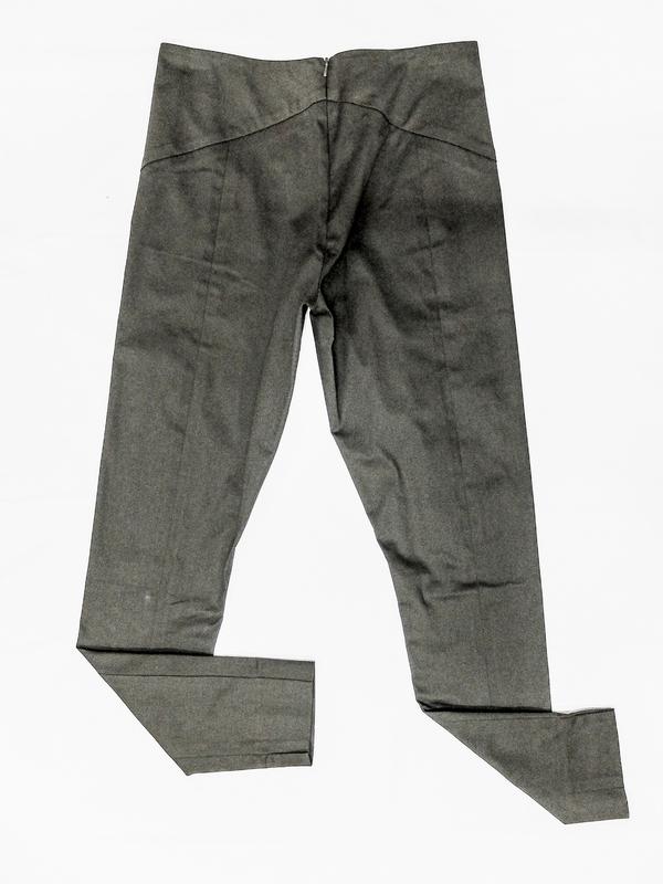 Berenik Skinny High Waist Stretch Trousers, Dark Gray