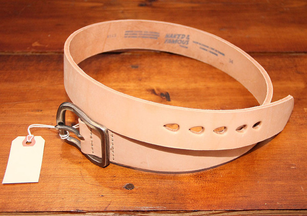 Men's Naked & Famous - Thick Belt - Natural Tan