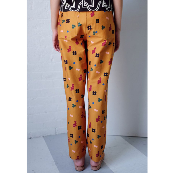 Dusen Dusen MUSTARD FIVE DOT PLEATED PANT