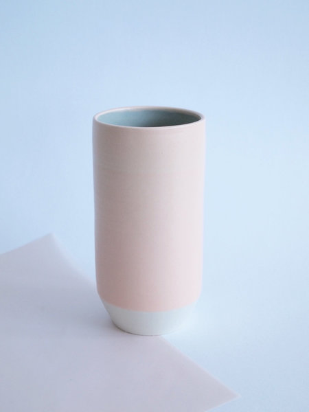 YYY blue speckled vase