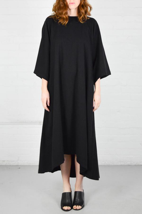 Black Crane Black Origami Dress
